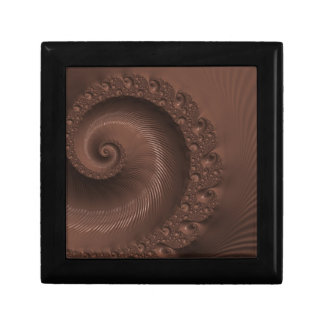 Chocolate Swirl Fractal Keepsake Box