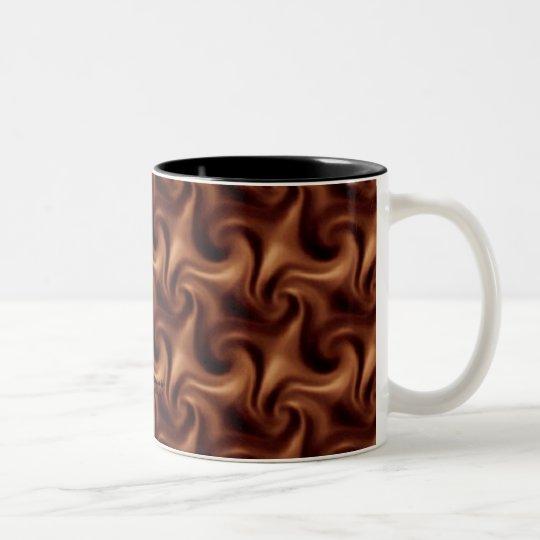 Chocolate Swirls Two-Tone Coffee Mug