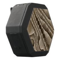 Chocolate Swirly Abstract Pattern Black Bluetooth Speaker