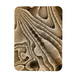 Chocolate Swirly Abstract Pattern Magnet