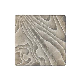 Chocolate Swirly Abstract Pattern Stone Magnet