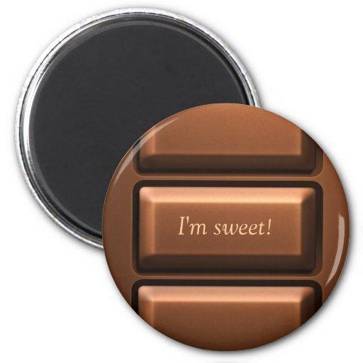 Chocolate Tablet Fridge Magnet