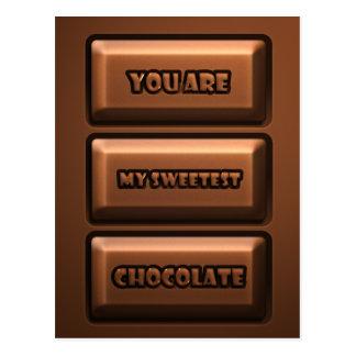Chocolate Tablet Postcard