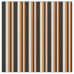 [ Thumbnail: Chocolate, Tan, and Black Pattern Fabric ]