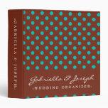 Chocolate & Teal - Wedding Organizer Binders