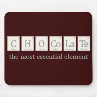 Chocolate, the most essential element mouse pad