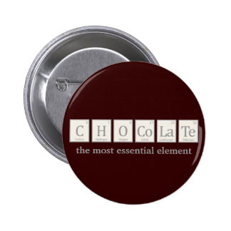 Chocolate, the most essential element pinback button