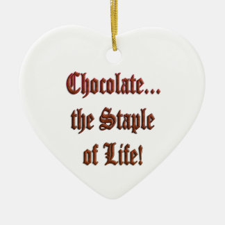 Chocolate the Staple of Life Br. Heart Ornament