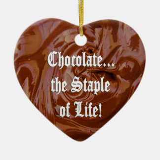 Chocolate the Staple of Life Heart Ornament