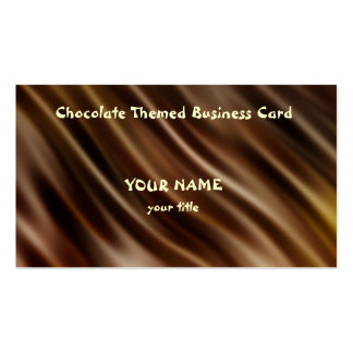 Chocolate themed business card
