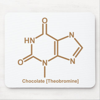 Chocolate theobromine mouse pad