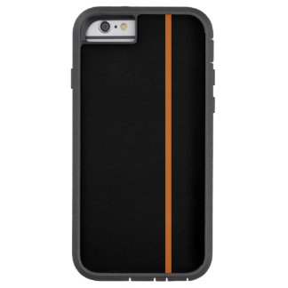Chocolate Thin Vertical Line on Black Tough Xtreme iPhone 6 Case