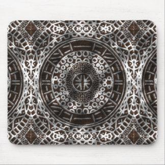 Chocolate tribal africano de la impresión de los mouse pads