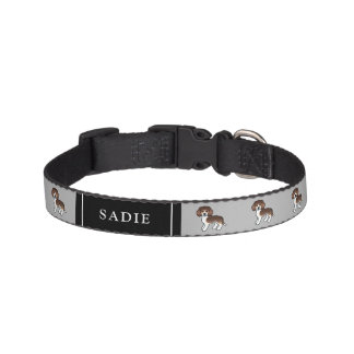 Chocolate Tricolor Beagle Cute Dogs & Dog's Name Pet Collar