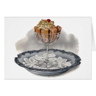 Chocolate Trifle Vintage Dessert Card