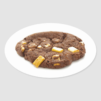 Chocolate Triple Chip Cookie Oval Sticker