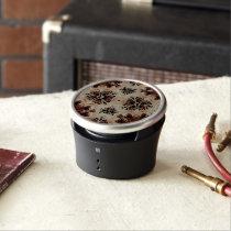 Chocolate Trippy Eyes Bluetooth Speaker