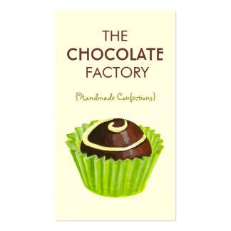 Chocolate Truffle Illustration Business Cards