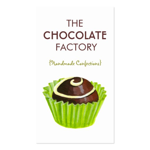Chocolate Truffle Illustration Business Cards (front side)