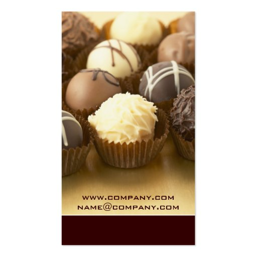 Chocolate Truffles Business Cards (back side)