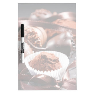 Chocolate truffles dry erase board
