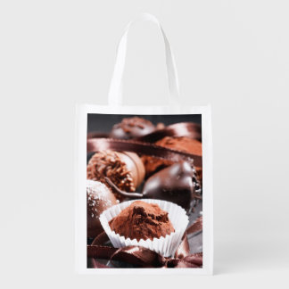 Chocolate truffles grocery bag