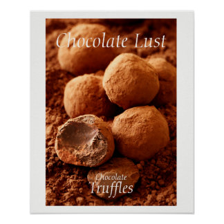 Chocolate Truffles Photo with customisable text Poster