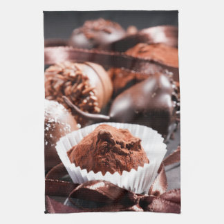 Chocolate truffles towel