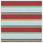 [ Thumbnail: Chocolate, Turquoise, Dark Red, Powder Blue, White Fabric ]