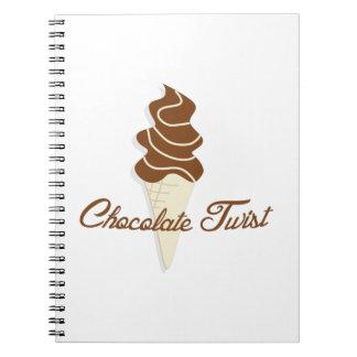 Chocolate Twist Notebook
