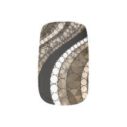 Chocolate& Vanilla Bling Minx Minx Nail Art