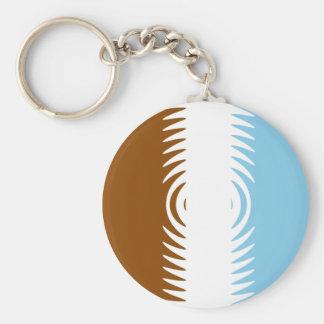 Chocolate Vanilla Blueberry Pattern Basic Round Button Keychain