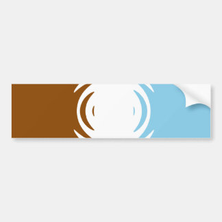 Chocolate Vanilla Blueberry Pattern Bumper Sticker