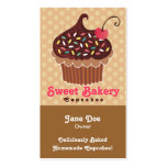 Chocolate & Vanilla Cupcake Business Cards