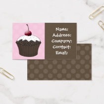 chocolate vanilla cupcake business Cards