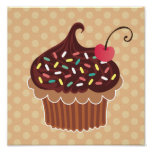 Chocolate & Vanilla Cupcake Canvas Print