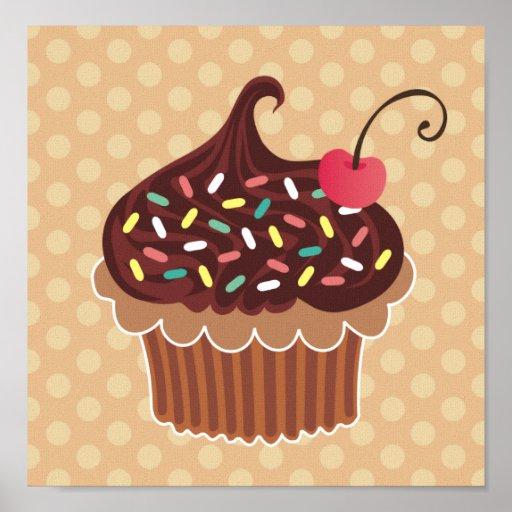 Chocolate & Vanilla Cupcake Canvas Print