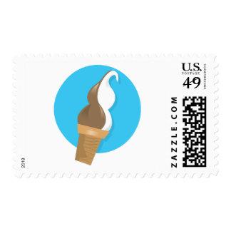 Chocolate & Vanilla Ice Cream Cone Stamp