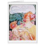 Chocolate ~ Vintage Hot Chocolate Drink Ad Greeting Cards