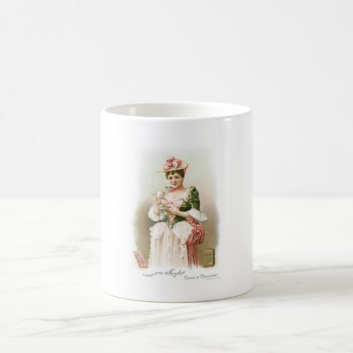 Chocolate ~ Vintage Hot Chocolate Drink Ad Classic White Coffee Mug