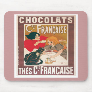 Chocolate ~ Vintage Hot Chocolate Drink Ad Mousepads