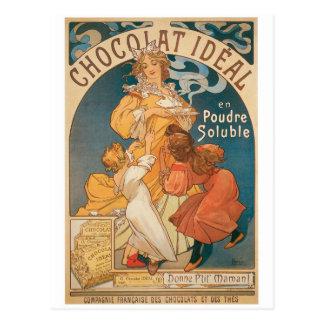 Chocolate ~ Vintage Hot Chocolate Drink Ad Postcard
