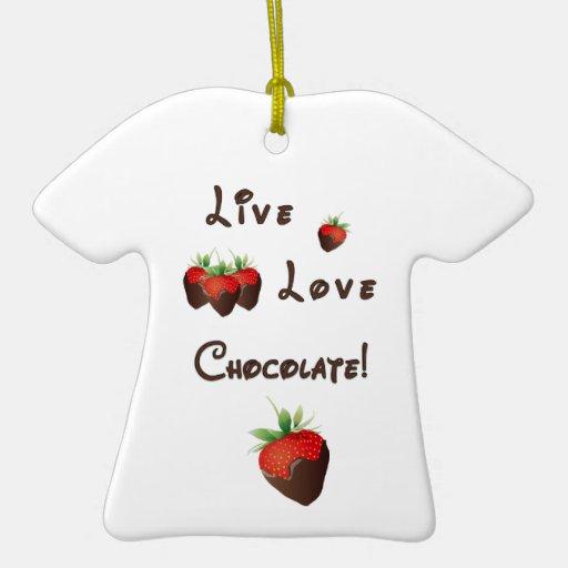 Chocolate vivo del amor ornamento de navidad