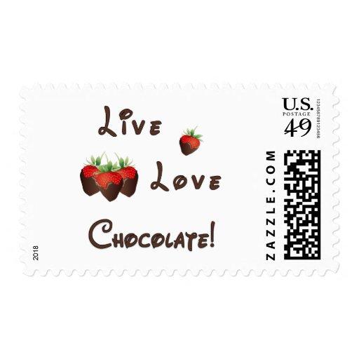 Chocolate vivo del amor sellos