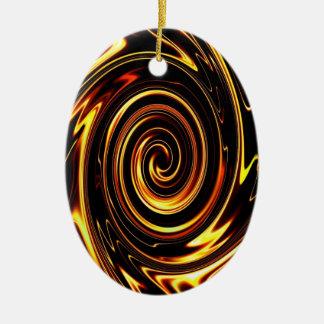 Chocolate Vortex 01 Ceramic Ornament