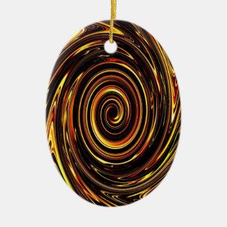 Chocolate Vortex 02 Ceramic Ornament