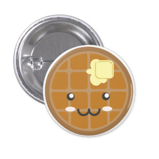Chocolate Waffle Button