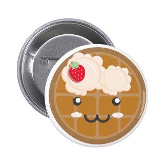 Chocolate Waffle with Vanilla Icecream Strawberry Buttons