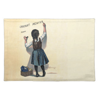 Chocolate Wall Writing Vintage Cloth Placemat