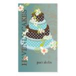 Chocolate Wedding Cake/Bakery/pâtisserie Business Card